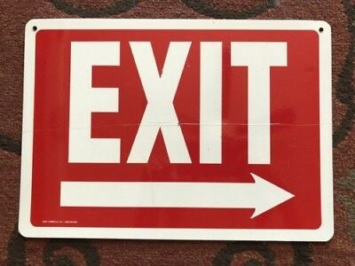 Exit sign14639 / 14640 Dual sided Left and right vinyl 10x14 (lot of 6)