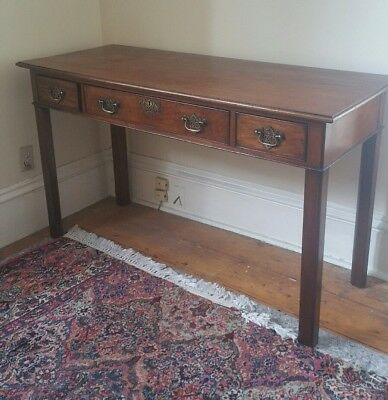 Chippendale Mahogany Antique Three DrawerTable