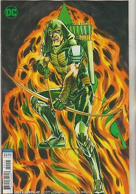 Dc Comics Green Arrow #42 August 2018 Variant 1St Print Nm