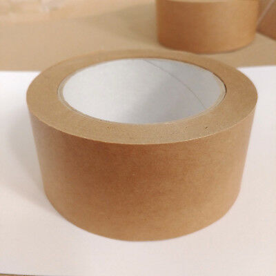 Brown Self Adhesive Backing Tape Picture Framing Canvas Craft Kraft 50mm x 50M