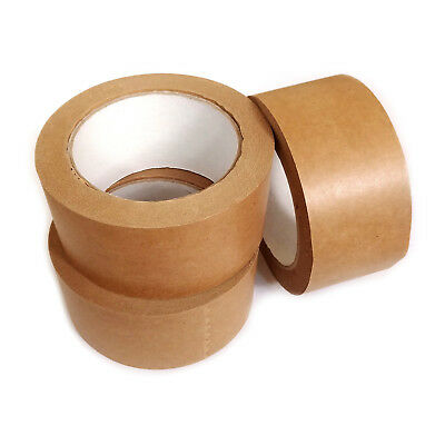 12x Brown Self Adhesive Backing Tape Picture Framing Canvas Craft Kraft 50mmx50M