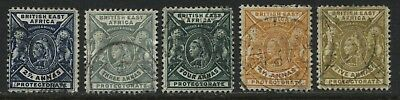 British East Africa QV 1898  2 1/2 to 5 annas used