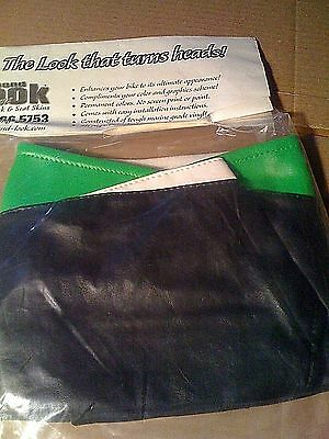 2002 KAWASAKI ZX-6R TANK BRA Green/Black/White SECOND LOOK MOTORCYCLE COVERS