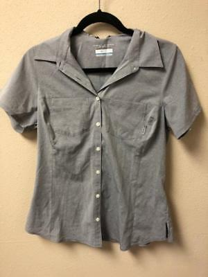 NEW!! Columbia Women's Nocturnal Chambray Omni-Wick Stretch Short Sleeve Shirt
