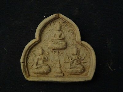 Antique  Tibet-Mongolian Buddhist Clay Tsa Tsa