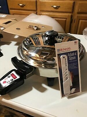 Lifetime Oil Core Electric Skillet Stainless Steel 11 In. Wide