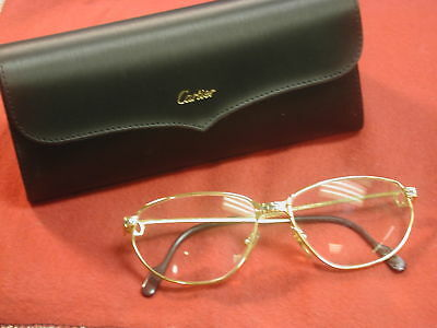 Cartier Panthere 57 15 Gold plated Aviator style Glasses