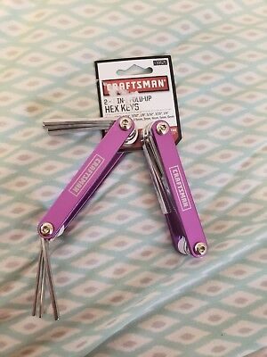 Craftsman 2- 7 IN 1 FOLD-UP HEX KEYS *New Tools** Purple In Color. Tool # 939525