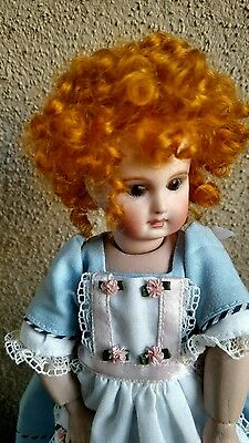 """Doll Wig, Annie 4"""", For Doll With A tiny  Head.100% mohair ginger red. CLEARANCE"""
