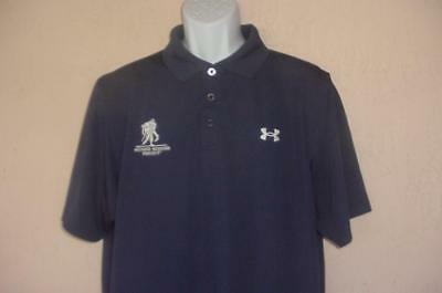 4f3d8b61 Wounded Warrior Project Under Armour Loose Heat Gear Stitched Golf Polo  Large