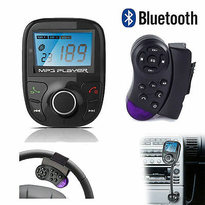 LCD KIT AUTO MP3 BLUETOOTH LETTORE AUDIO Trasmettitore FM modulatore radio SD