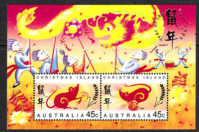 Australia CHRISTMAS I mint unhinged 1996 YEAR OF RAT MINIATURE sheet