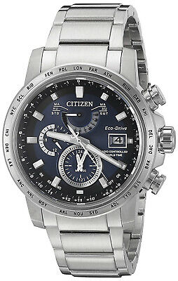 Citizen AT9070-51L Eco-Drive Blue Dial Stainless Steel Chronograph Men's Watch