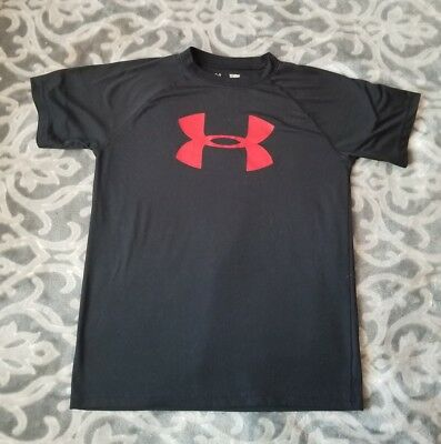 2f3ac3f902 Under Armour Youth Boys' UA Tech Big Logo T-Shirt BLACK RED Youth Large YLG