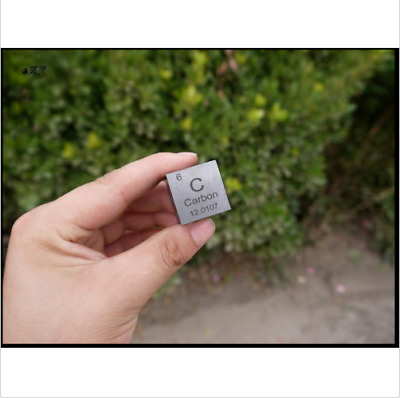 High Purity 99.9% Carbon C Element Periodic Table Cube 1 inch30g