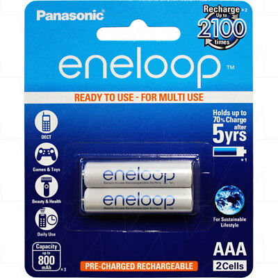 Eneloop Aaa Battery 2 Pack Rechargeable Batteries