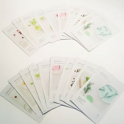Innisfree New My Real Squeeze Facial Mask Pack 20ml 10 Types 10/20/30 Sheets Lot