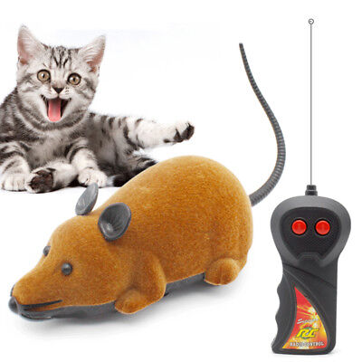 Wireless Remote Control RC Electronic Rat Mouse Mice Toy For Cat Gift QIOE
