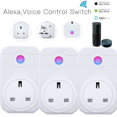 Wireless WIFI Smart APP Remote Control Timer Socket UK Plug Home Automation UK