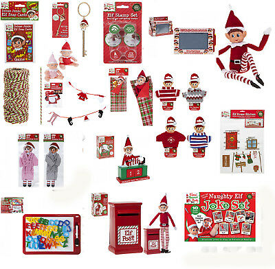 Elf Elves Behavin' Badly Props, Naughty Christmas Elf Props & Accessories Shelf