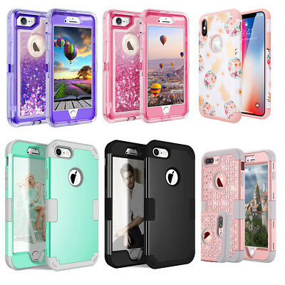 iPhone X 6 6S 8 7 Plus Case Hybrid Hard Heavy Duty Shockproof Rubber Armor Cover