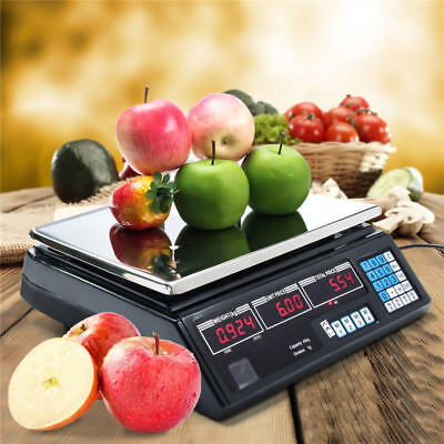 40kg Electronic Digital Weighing Sweet Fruit Veg Shop Retail Weigh & Price Scale