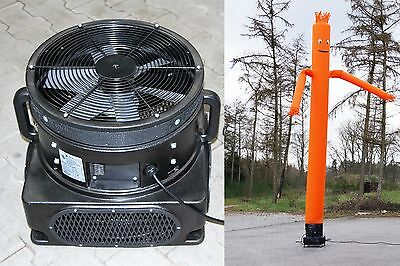 Skydancer mit Gebläse, Airdancer,Flattermann, 1100 W, orange