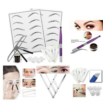Microblading Needles Eyebrow outil de maquillage permanent Kit Pigment Ink