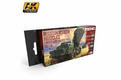 AK Interactive MC807 RUSSIAN MODERN VEHICLES CAMOUFLAGE COLORS VOL. 2 6x17ml