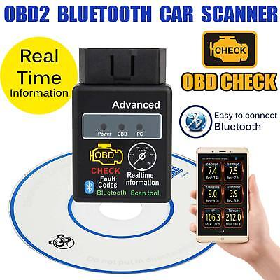 OBD 2 Bluetooth 4.0 Torque Android Diagnosegerät CAN BUS Interface Auto