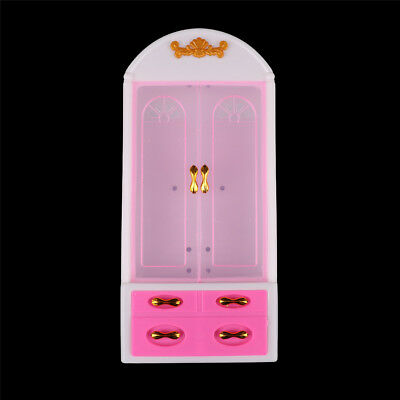 Princess Bedroom Furniture Closet Wardrobe For  Dolls Toys Girl Gifts MW