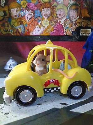 Charming Tails I'D NEVER STEER YOU WRONG 82/128 Yellow Taxi Cab ~ FREE SHIPPING