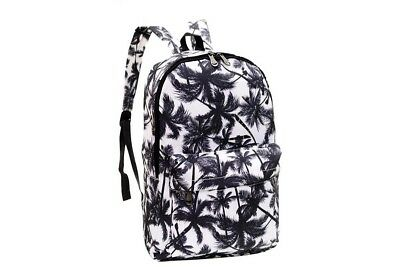 Fashion Women Canvas Printing Backpack Bag Retro Printing Shoulder Ruckasck Bag