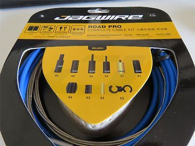 Jagwire Road Pro Complete Road Bike Brake and Gear Cable Set Blue