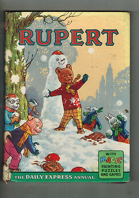 RUPERT ANNUAL 1962 original book - G