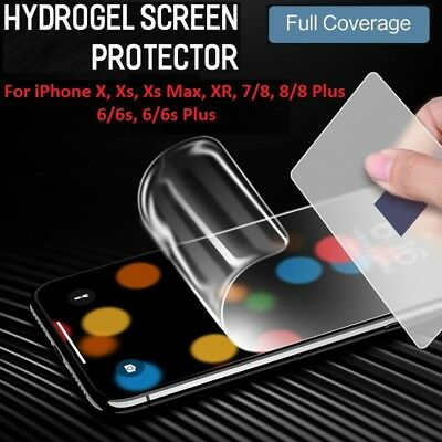 HYDROGEL AQUA FLEXIBLE Screen Protector iPhone11 Pro Xs Max X XR 8 7 6 Plus