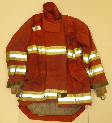 Morning Pride 44x34 Red Firefighter Jacket Bunker Turn Out Gear J551