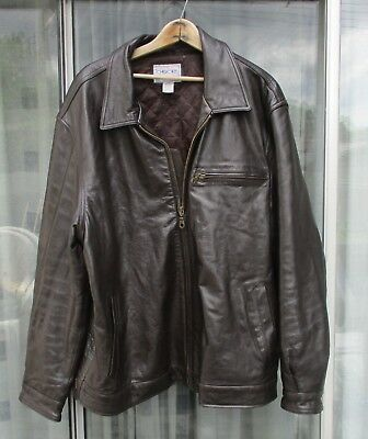 8e9c38a20556 Cherokee dark brown leather jacket coat size picclick jpg 336x400 Cherokee  leather jacket