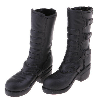1/6 Scale Female Fashion Low Heel Knee Boots for 12'' Phicen Kumik Hot Doll