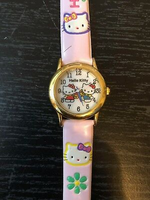 Hello Kitty Leather Vintage Watch, Great Condition (Needs New Battery)