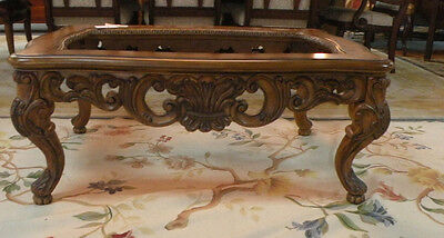 Hand Carved Solid Wood Coffee Table. No Glass Insert. Heavy.