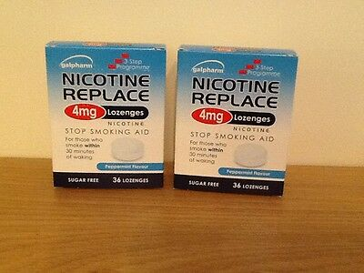 GALPHARM Nicotine Replacement 4mg Lozenges - 2 boxes x 36 pcs (72 total)