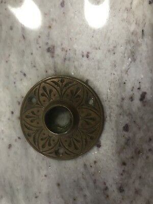 """Vintage Brass Rosette with neat stamped design 2 1/8"""""""