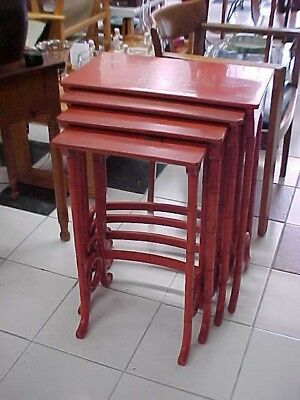 Set Of Early Lacquered Chinese Nesting Tables