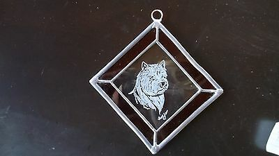 Norwich Terrier-  Beautifully  hand engraved Ornament by Ingrid Jonsson