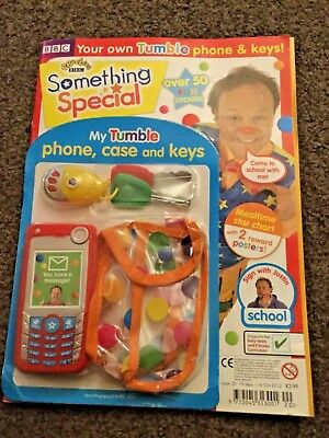 cbeebies mr tumble something special magazine issue 20 my tumble phone,case,keys