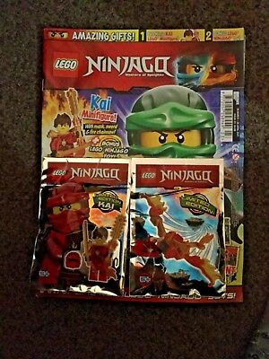 Lego NINJAGO Magazine ISSUE 23 #  LIMITED EDITION KAI Mini-figure