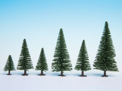 NOCH - 26920 Model Fir Trees, 10 pieces, - 14 cm high H0,TT