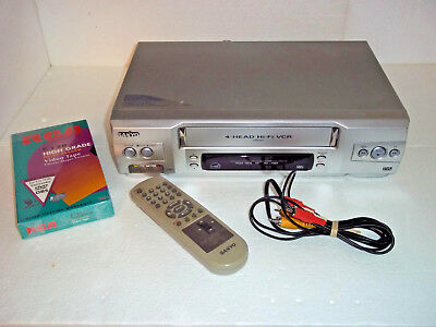 sanyo vhs 4 head hi fi vcr model vwm 950 with remote tested and rh picclick com Sanyo Vwm 710 Manual Sanyo Vwm 710