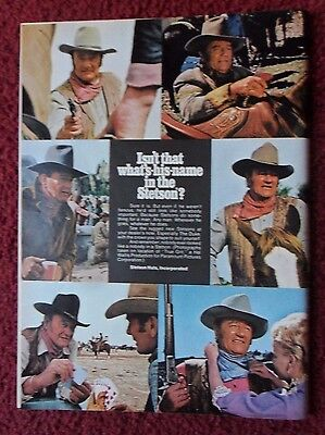 1969 Print Ad Stetson Fashion Hats ~ Western Cowboy Film Icon John Wayne 'DUKE'